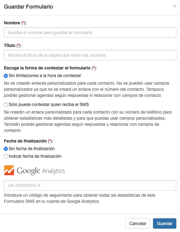 Recuerda poner el código de Google Analytics en tus Formularios  - Mensagia