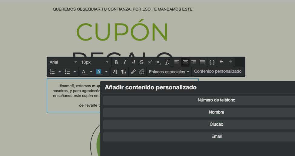 Añade campos personalizados en tus campañas de email marketing - Mensagia