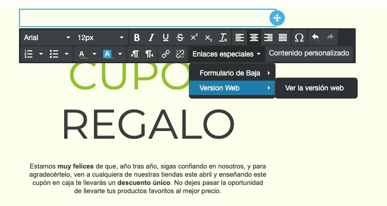 Inserta enlaces especiales en tus campañas de email marketing - Mensagia