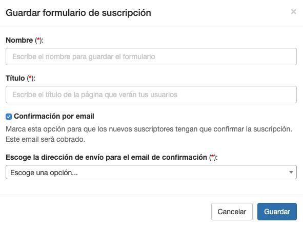 Puedes habilitar la confirmación por email en tu formulario de suscripción - Mensagia