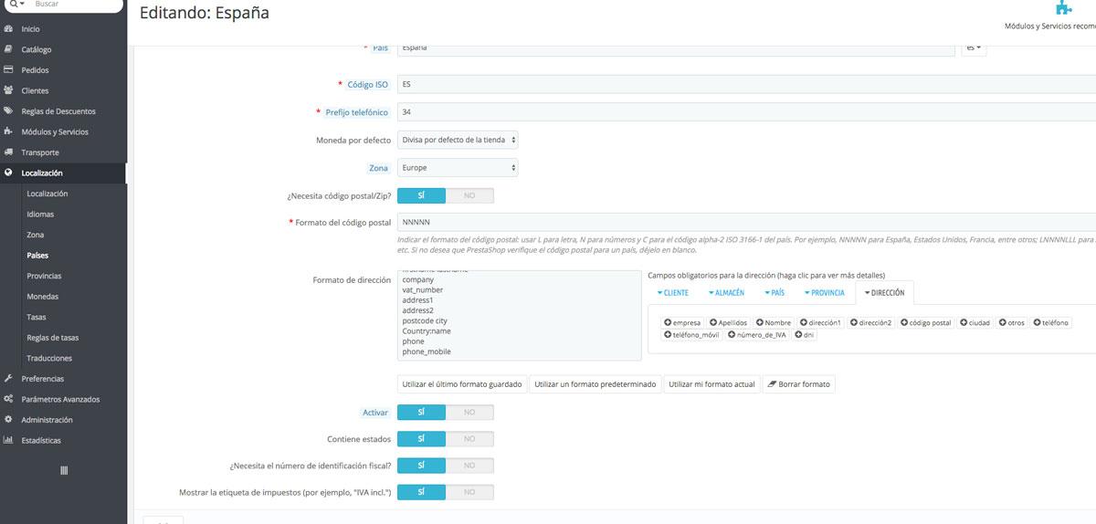 Módulo para Prestashop - Configurar módulo - Mensagia