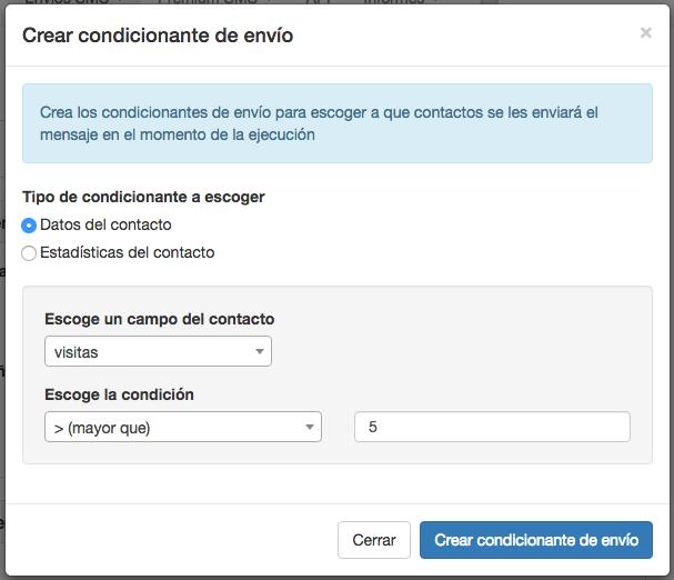Crear condicionante de envío tipo fecha en Campañas Inteligentes - Mensagia