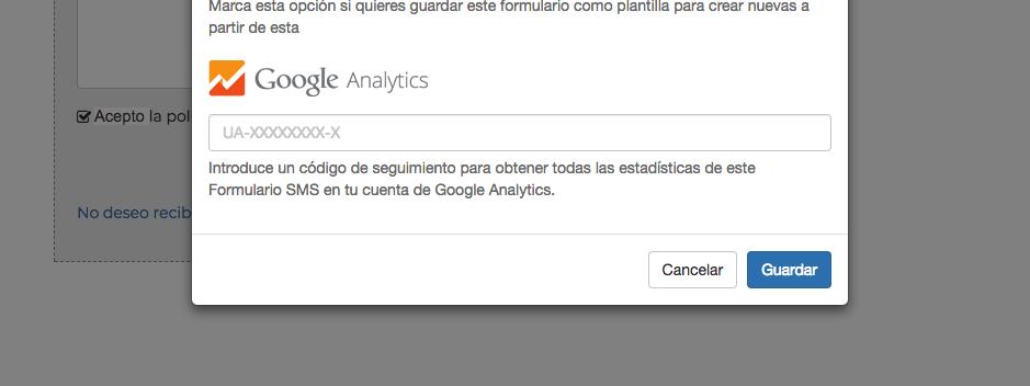 Integración Formularios SMS con Google Analytics - Mensagia