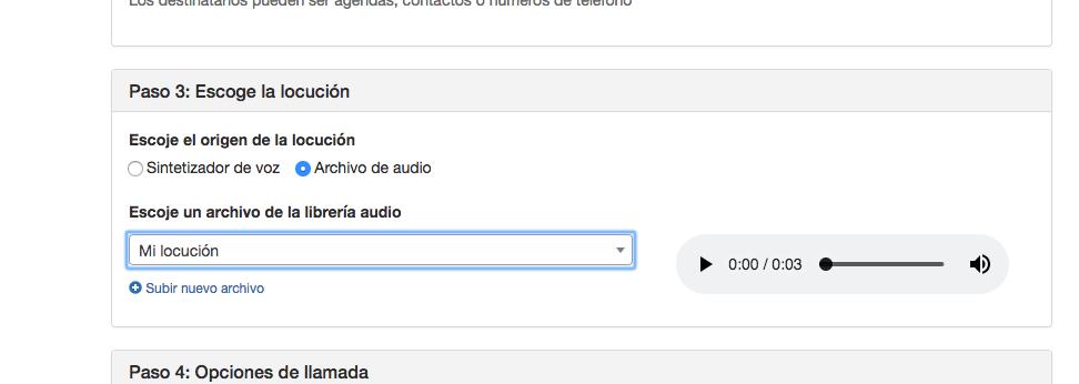 Usar la Librería de Audios en campañas de VOZ - Mensagia